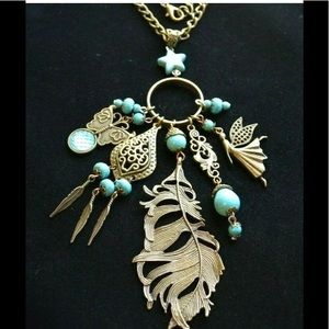 Jewelry - Handmade necklace fairy magic charm antique style
